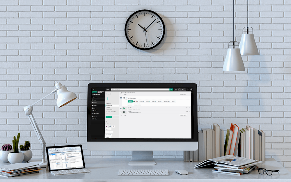 HPE Content Manager in computer and laptop screens