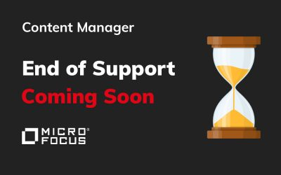 Micro Focus Content Manager End of Support Dates