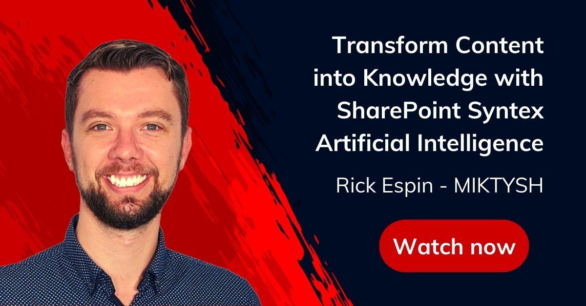 SharePoint Syntex AI Webinar