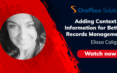 Adding Context to Information for Better Records Management